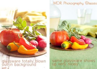 Back Light VS Side Light with Food Photography
