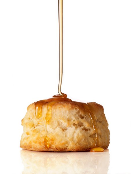 Honey on a biscuit   Food Photography Blog