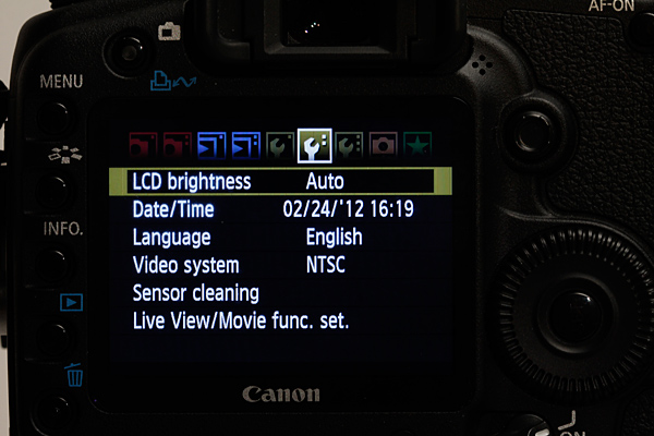 LCD Brightness Menus on the Canon 5 D | Food Photography Blog