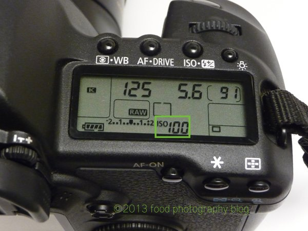 Top Menu with ISO Highlighted | Food Photography Blog