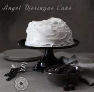 Behind the scenes of a food shoot – Angel Meringue Cake