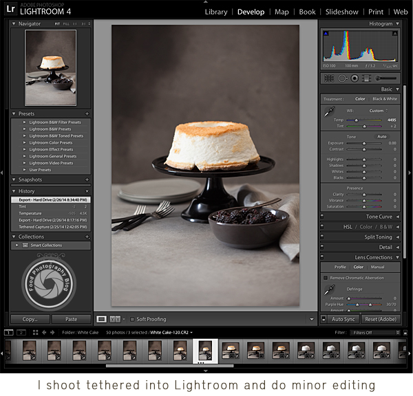 Shooting Tethered with Lightroom | Food Photography Blog