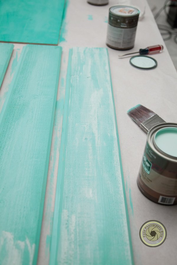 Painting a distressed wood surface