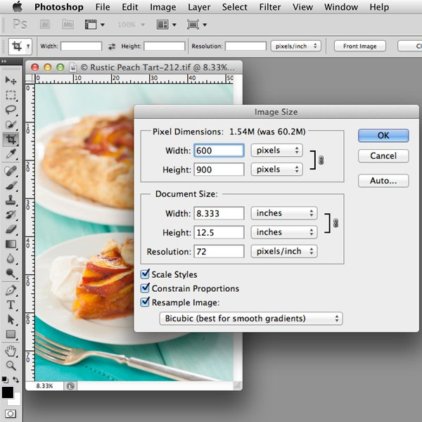 Image Size in Photoshop | Food Photography Blog