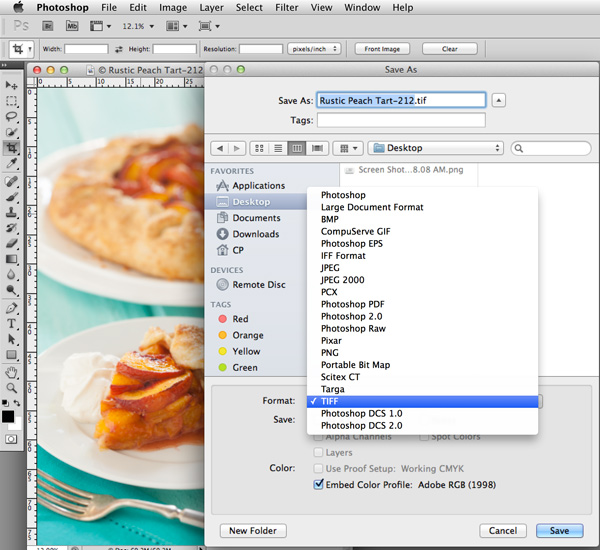 Photoshop Save As | Food Photography Blog