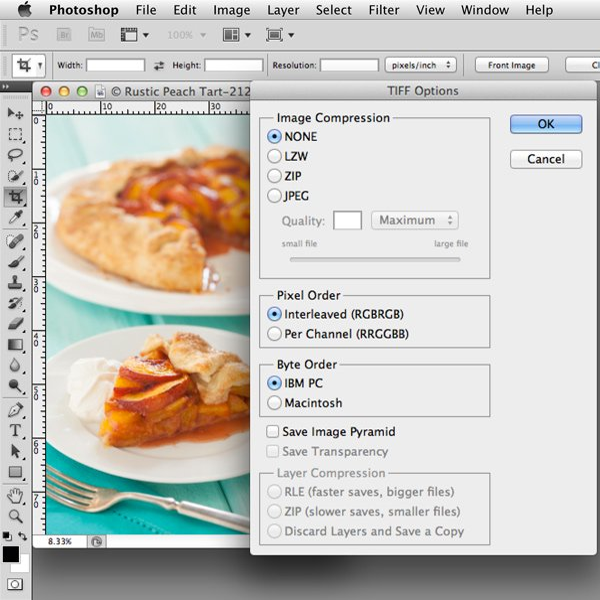 Tiff Dialog Box | Food Photography Blog