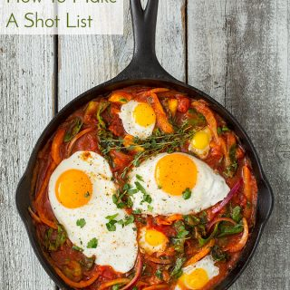 How To Prepare For Your Food Photo Shoot – Make A Shot List!