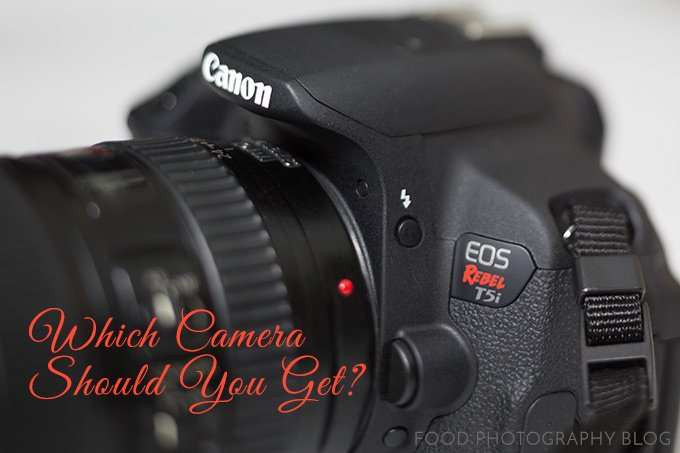 Image of camera with text Which Camera Should You Get?