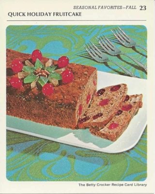 Vintage Recipe Cards From the 1970's- Happy Holidays!