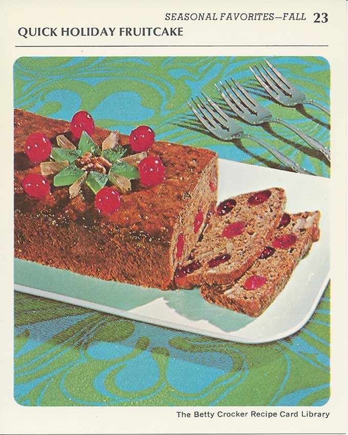 Vintage Recipe Card Holiday Fruit Cake | Food Photography Blog