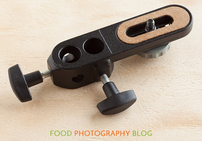 Close up image of the Manfrotto camera bracket