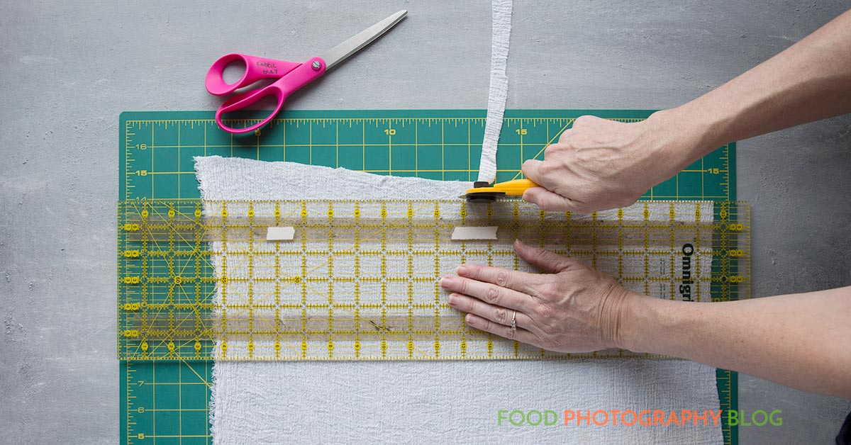 Cutting Fabrics | Food Photography Blog