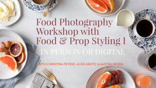 Food Photography Workshop with Food and Prop Styling