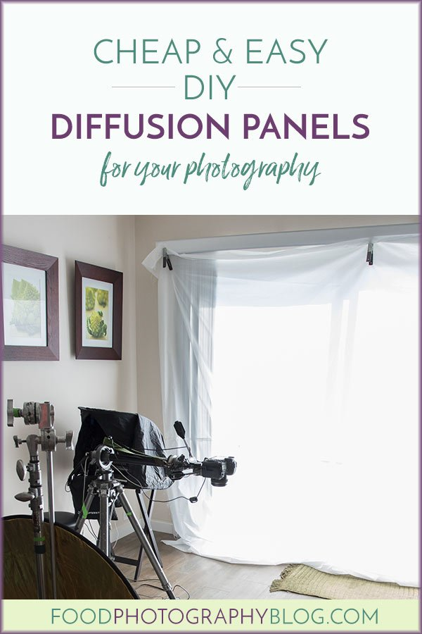Cheap And Easy DIY Diffusion Panels | Food Photography Blog