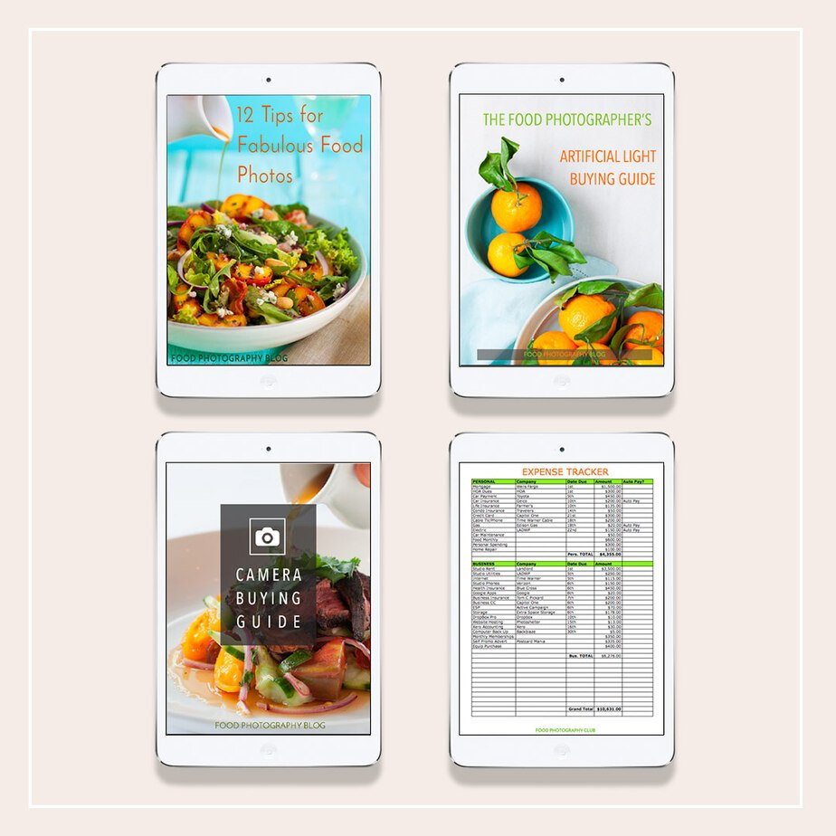 Free Food Photography eBooks and PDF's