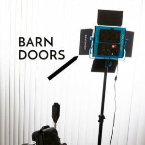 Barn Doors On an LED Panel Light