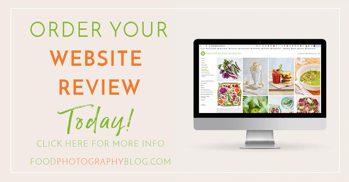 Image with text saying to order your website review today