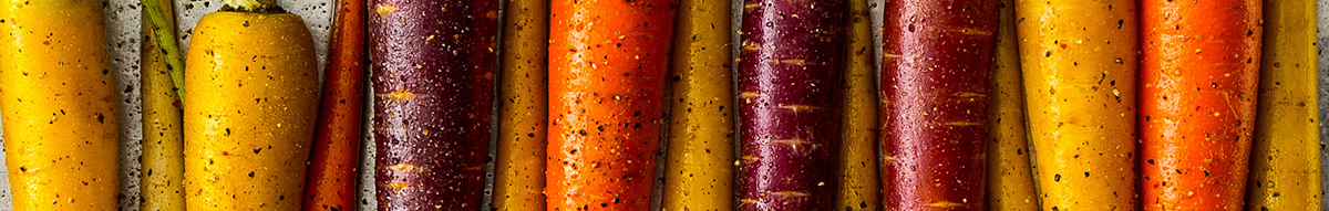 Graphic of carrots close up